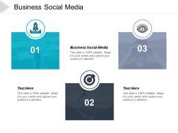 Business Social Media Ppt Powerpoint Presentation File Design Ideas Cpb