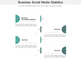 Business Social Media Statistics Ppt Powerpoint Presentation Gallery Good Cpb