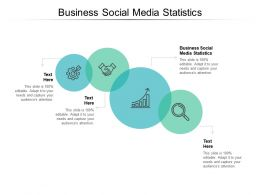 Business Social Media Statistics Ppt Powerpoint Presentation Infographic Template Aids Cpb