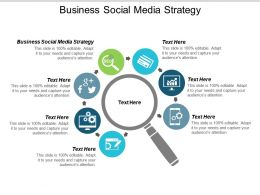 Business Social Media Strategy Ppt Powerpoint Presentation Gallery Graphics Pictures Cpb