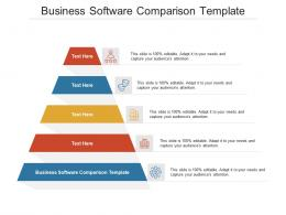 Business Software Comparison Template Ppt PowerPoint Presentation Portfolio Cpb