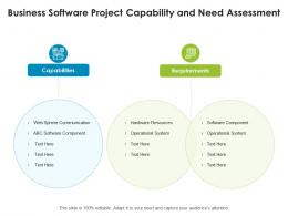 Business Software Project Capability And Need Assessment