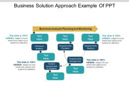 Business Solution Approach Example Of Ppt