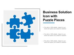 Business Solution Icon With Puzzle Pieces