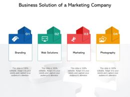 Business Solution Of A Marketing Company