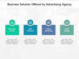 Business Solution Offered By Advertising Agency