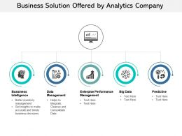 Business Solution Offered By Analytics Company