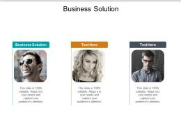 Business Solution Ppt Powerpoint Presentation Slides Templates Cpb