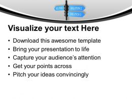 Business Solution Signpost Powerpoint Templates Ppt Themes And Graphics 0113