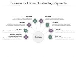 Business Solutions Outstanding Payments Ppt Powerpoint Presentation Gallery Structure Cpb