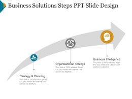 Business Solutions Steps Ppt Slide Design