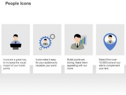 Business Speech Management Manager With Growth Pointer Ppt Icons Graphics