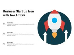 Business Star Up Icon With Two Arrows