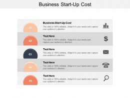 Business Start Up Cost Ppt Powerpoint Presentation File Background Cpb