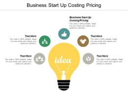 Business Start Up Costing Pricing Ppt Powerpoint Presentation Pictures Clipart Images Cpb