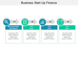 Business Start Up Finance Ppt Powerpoint Presentation Portfolio Cpb