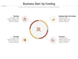 Business Start Up Funding Ppt Powerpoint Presentation Icon Smartart Cpb