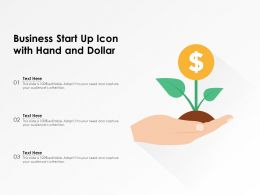 Business Start Up Icon With Hand And Dollar