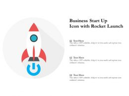 Business Start Up Icon With Rocket Launch