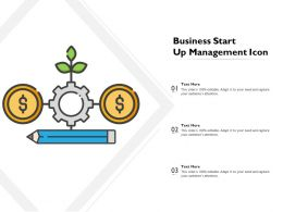 Business Start Up Management Icon