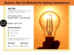 Business Start Up Workshop For Aspiring Entrepreneurs