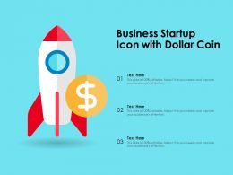 Business Startup Icon With Dollar Coin