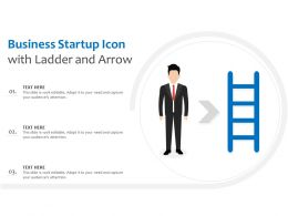Business Startup Icon With Ladder And Arrow