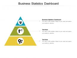 Business Statistics Dashboard Ppt Powerpoint Presentation Infographic Template Elements Cpb