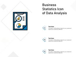 Business Statistics Icon Of Data Analysis