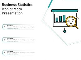 Business Statistics Icon Of Mock Presentation
