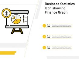 Business Statistics Icon Showing Finance Graph