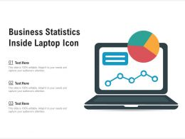 Business Statistics Inside Laptop Icon