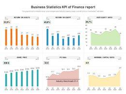 Business Statistics KPI Of Finance Report