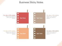 Business Sticky Notes Powerpoint Slide Presentation Guidelines