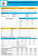Business Stock And Financial Plan Report Presentation Report Infographic Ppt Pdf Document