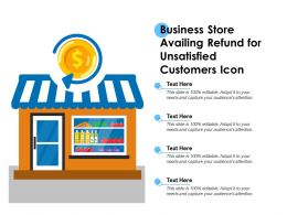 Business Store Availing Refund For Unsatisfied Customers Icon