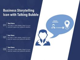 Business Storytelling Icon With Talking Bubble