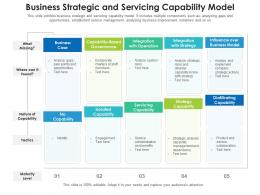 Business Strategic And Servicing Capability Model