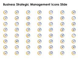 Business Strategic Management Icons Slide Target L636 Ppt Aids
