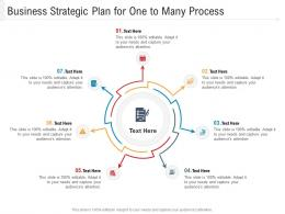 Business Strategic Plan For One To Many Process Infographic Template