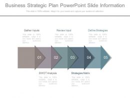 Business Strategic Plan Powerpoint Slide Information