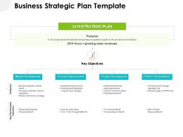 Business Strategic Plan Template Ppt Powerpoint Gallery Structure