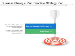 Business Strategic Plan Template Strategy Plan Business Analysis Cpb