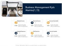 Business Strategic Planning Business Management Kpis Metrics Paid Ppt Download