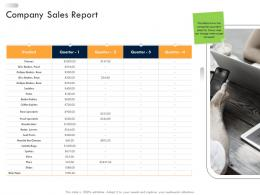 Business Strategic Planning Company Sales Report Ppt Professional