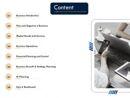 Business Strategic Planning Content Ppt Summary