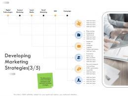 Business Strategic Planning Developing Marketing Strategies Social Ppt Summary
