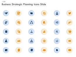 Business Strategic Planning Icons Slide Ppt Portrait