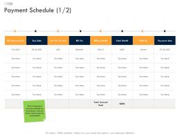Business Strategic Planning Payment Schedule Ppt Sample
