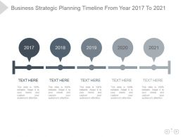 Business Strategic Planning Timeline From Year 2017 To 2021ppt Layout